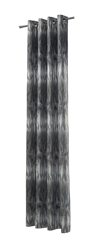 Heco Ösenschal, Stoff, grau Silber, 245 cm x 140 cm