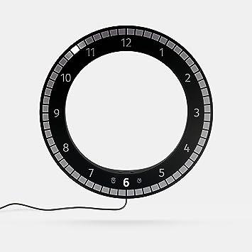 El único reloj Original Kibardin Digital LED reloj blanco negro moderno LED 3d Digital de escritorio reloj despertador de pared para oficina en casa: ...