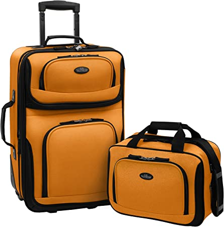 Traveler's Choice Rugged Fabric Expandable Luggage
