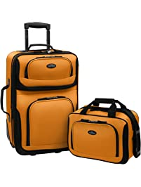 U.S Traveler Rio Two Piece Expandable Carry-on Luggage Set (15-Inch and d98e39a008dc
