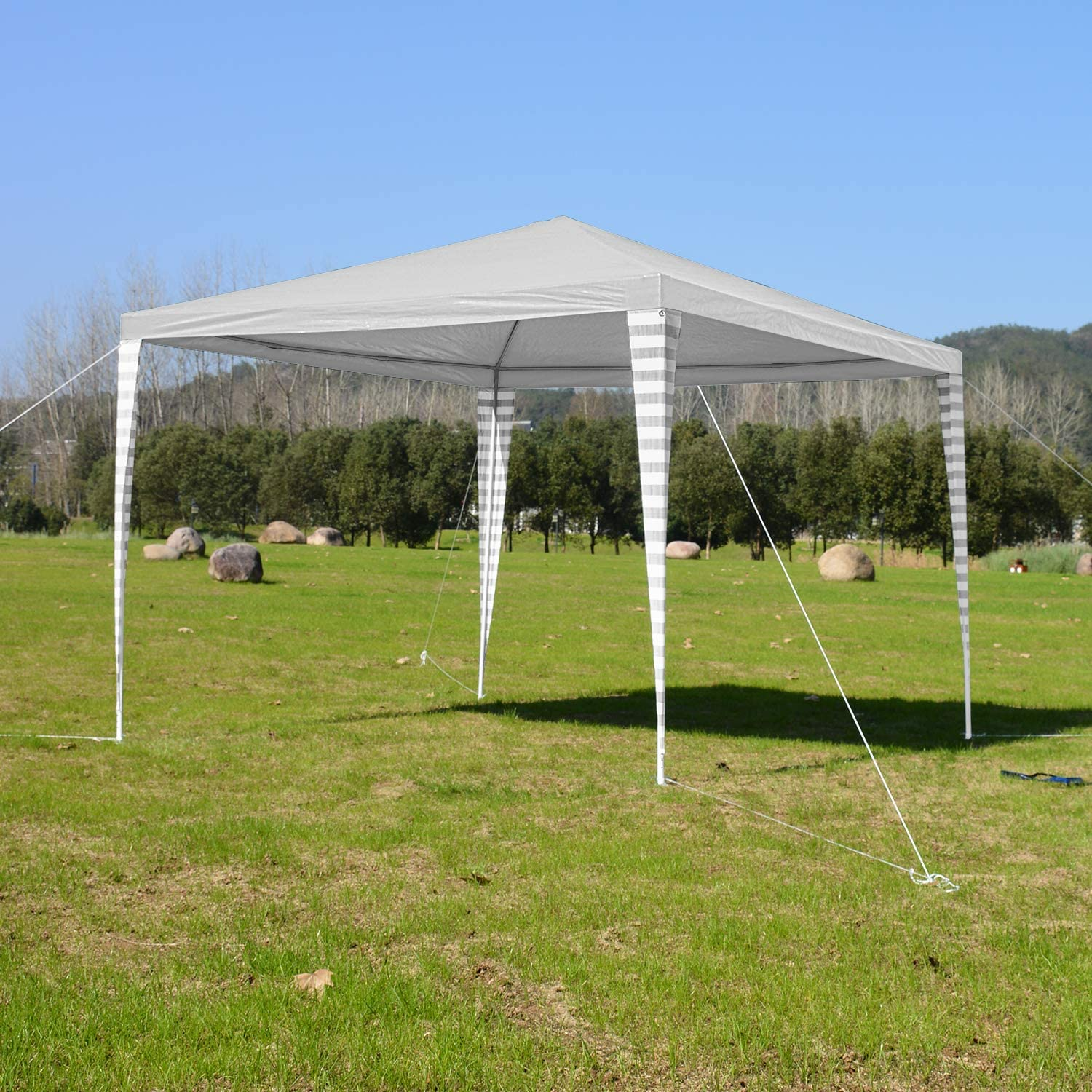 huigou 3x3m Carpas Pabellón Estable Carpa para Fiesta toldo Impermeables Gazebo Estable fácil de desplegar Costuras Selladas de PE: Amazon.es: Jardín