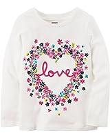 Carter's Girls' 2T-8 Multi Floral Love Tee Shirt