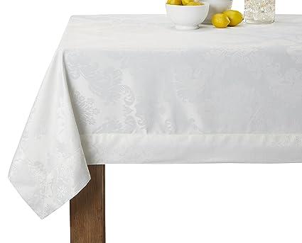 Charming Violet Linen Vintage Damask Design Oblong/Rectangle Tablecloth, 70u0026quot; X  120u0026quot;,