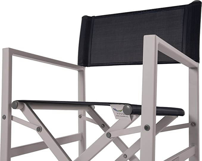 Amazon.com: Vivere stuc-ns Studio plegable de aluminio silla ...