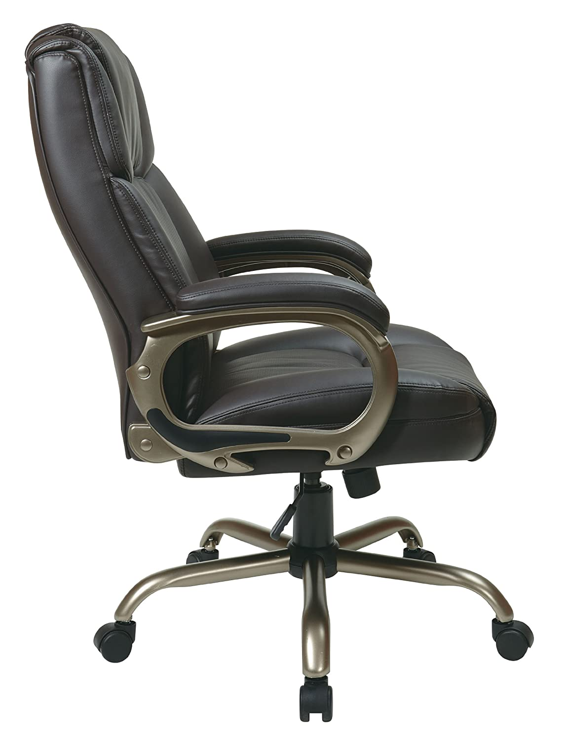 Office chairs for big and tall - Amazon Com Office Star Executive Big Man S Chair With Eco Leather Seat And Back Espresso Kitchen Dining