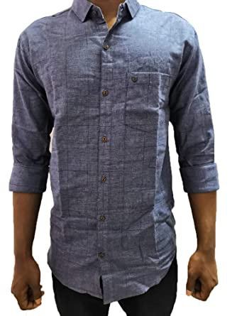005d5bac56 Branded Fashion Men Regular Fit Cotton Shirt (Grey): Amazon.in ...
