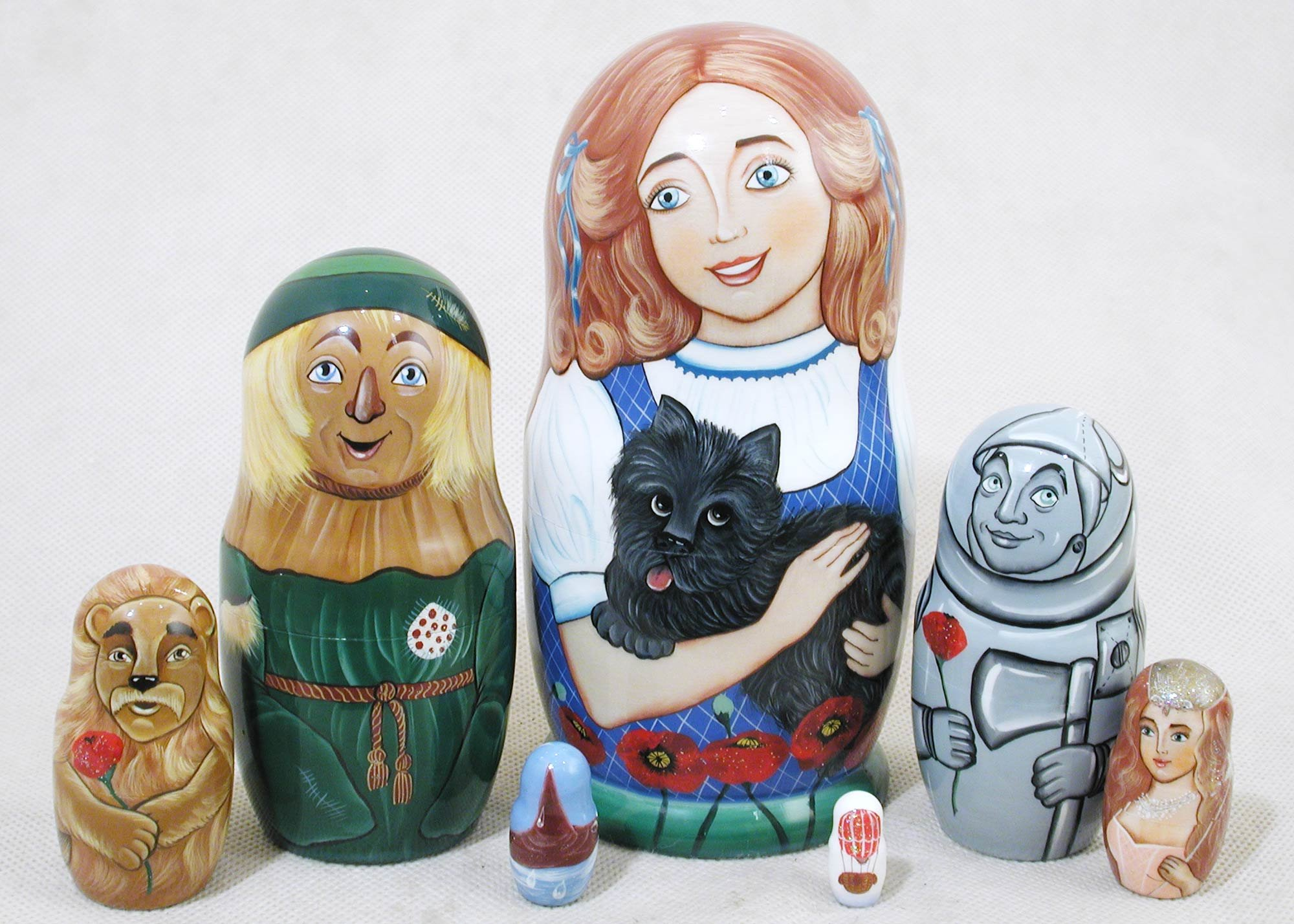 Wizard of Oz Russian Nesting Doll 7pc./6'' by Golden Cockerel (Image #1)