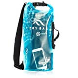 New Acrodo Waterproof Dry Bag Transparent 10 - 20 Liter Floating for Boating, Camping, and Kayaking With Shoulder Strap - Keeps Personal Belongings Protected