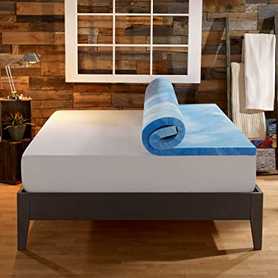 Sleep Innovations 4-Inch Dual Layer Mattress Topper – Gel Memory Foam and Plush Fiber