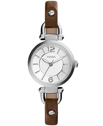 Fossil Georgia Three-Hand Leather Watch