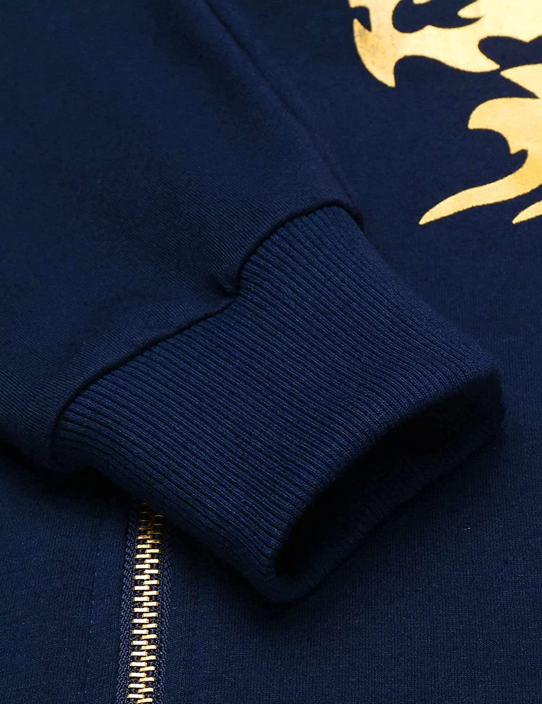 Mens Camo Hoodies Sweatshirt Casual Zip Up Hip-Hop Tops Patchwork Pullover Hooded Outwear with Pockets Zipper WEI MOLO