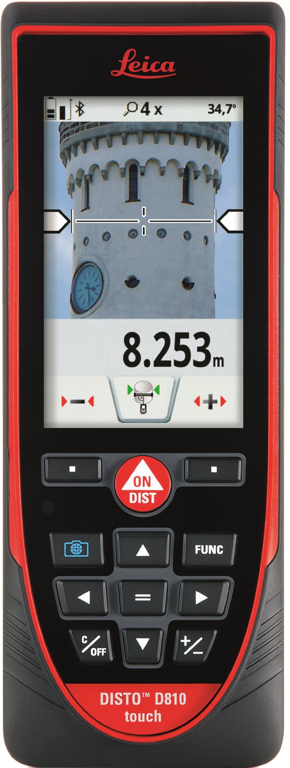 Leica DISTO D810 Touch 660ft Laser Distance Measurer w/Bluetooth and 1mm Accuracy, Red/Black by Leica Geosystems