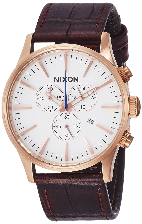 [ニクソン]NIXON SENTRY CHRONO LEATHER: ROSE GOLD/BROWN GATOR NA4052459-00 【正規輸入品】 B01MXRXZAW