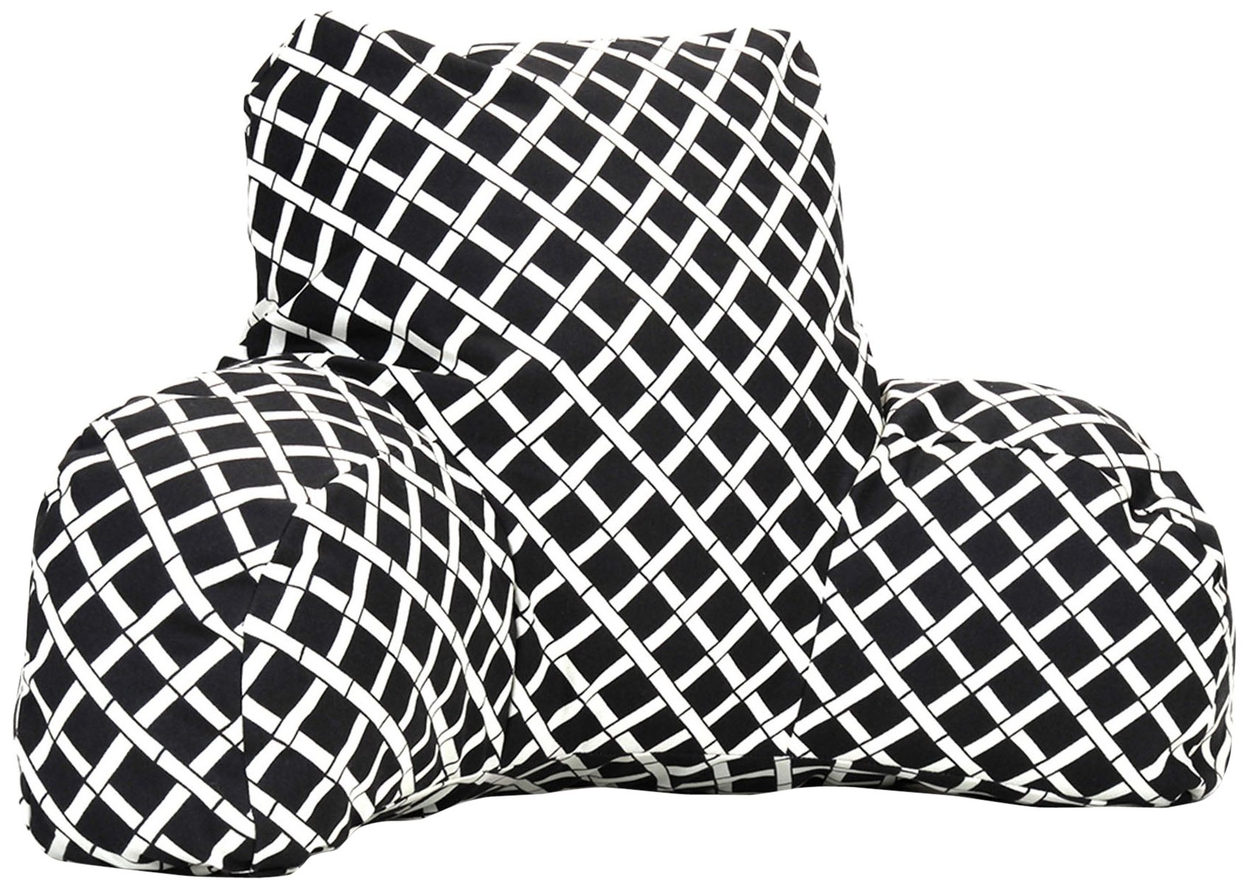 Majestic Home Goods Bamboo Reading Pillow, Black