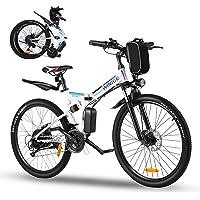 Vivi Bicicleta Eléctrica Plegable,Bicicleta Electrica Montaña de 26 Pulgadas,Bici Electrica Plegable de 350 W para…