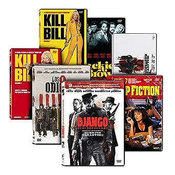 Pack Tarantino: Malditos Bastardos + Django Desencadenado + Jackie Brown + Kill Bill - Volumenes 1 y 2 + Pulp Fiction + Los Odiosos Ocho DVD: Amazon.es: Cine y Series TV