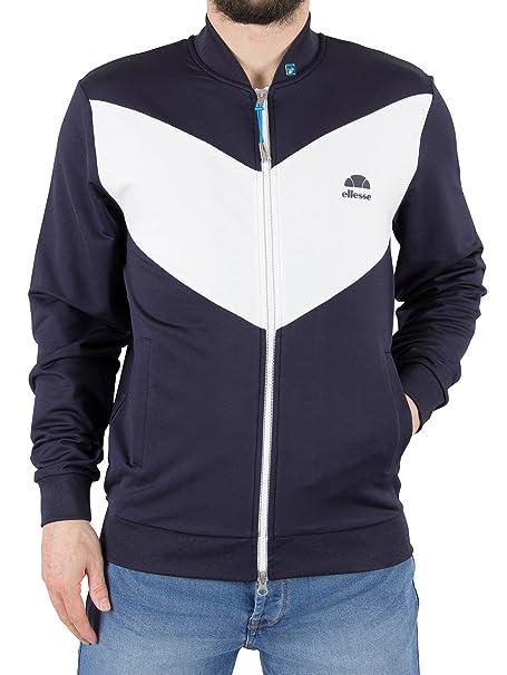 Ellesse Hombre Riva Jersey chaqueta de bombardero Logo, Azul, X-Large: Amazon.es: Ropa y accesorios