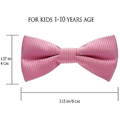 BOYS PINK BOW TIE Little Baby Toddler Kids Adjustable Pretied