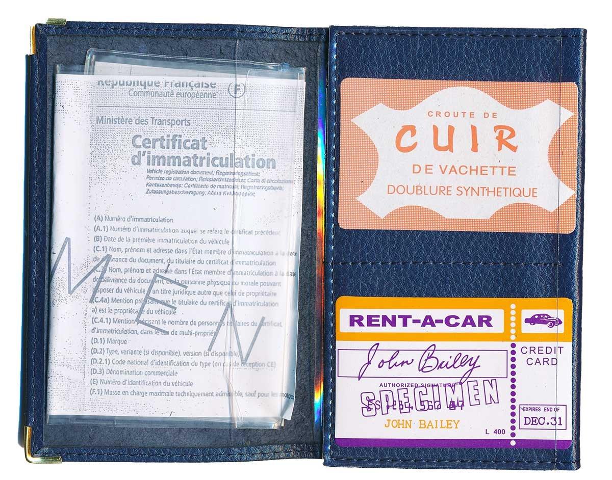 6b5b4902eba Syl'la - Funda de protección de piel sintética para documentación del coche,  personalizable con matrícula, azul (Azul) - cg-bleu-imm: Amazon.es: Equipaje