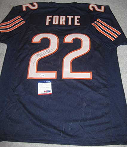 21479260f4f Image Unavailable. Image not available for. Color: Autographed Matt Forte  Jersey - NAVY w COA ...