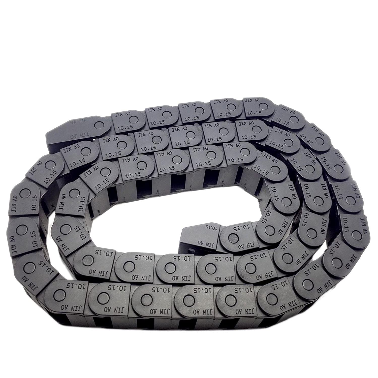 18x25 2M 18mm x 25mm Series Bridge Type Open R48 Small Cable Drag Chain Wire Carrier /& End Connectors Plastic Towline for CNC Router Machine