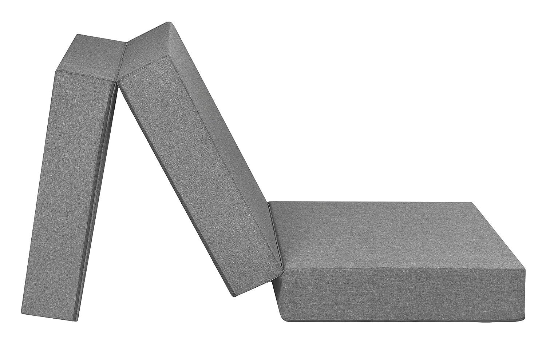 Badenia Trendline – Materasso pieghevole per ospiti, XXL, con rivestimento in microfibra, 196 x 65 x 15 cm, colore: grigio chiaro Prezzi offerte