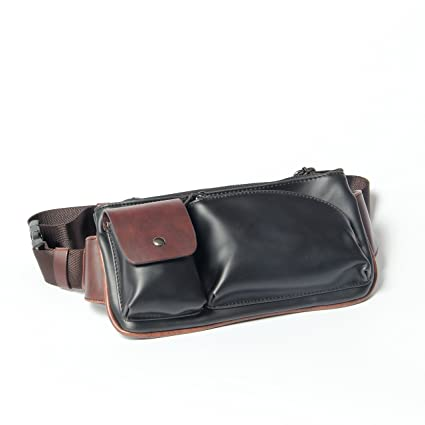 4b112dbf2117 Xiao.p.bag Crazy Horse PU Leather Men Chest Small Bag CrossBody Shoulder Bag