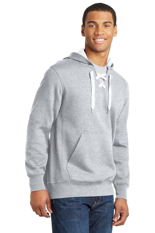 Sport-Tek Mens Lace Up Pullover Hooded Sweatshirt