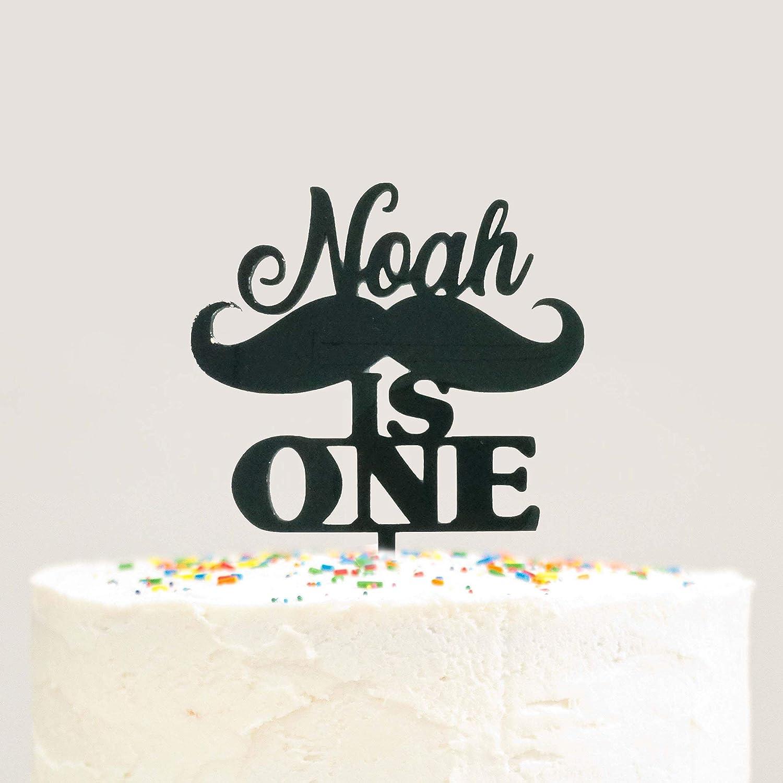 Pleasant 1St Birthday Cake Topper First Birthday Cake Topper Personalized Funny Birthday Cards Online Fluifree Goldxyz