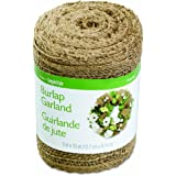 FloraCraft Burlap Garland, 5 Inches by 10 Yards