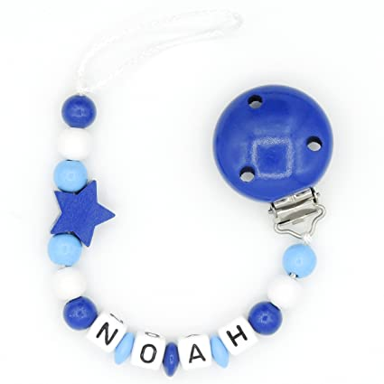 Cadena para chupete Boca parte con nombres - Niño - Color Azul ...