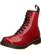 Dr. Marten's Women's 1460 8-Eye Patent Leather Boots, Red, 3 F(M) UK / 5 B(M) US Women / 4 D(M) US Men