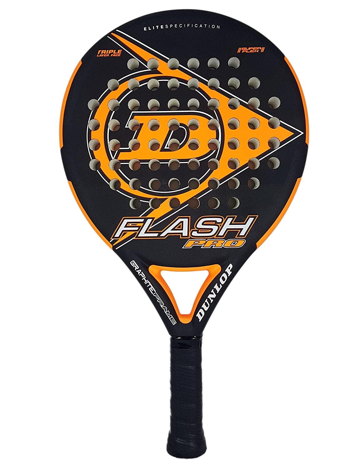 Dunlop FLASH PRO - Pala de pádel 38mm, 2018, nivel iniciación, color verde: Amazon.es: Deportes y aire libre
