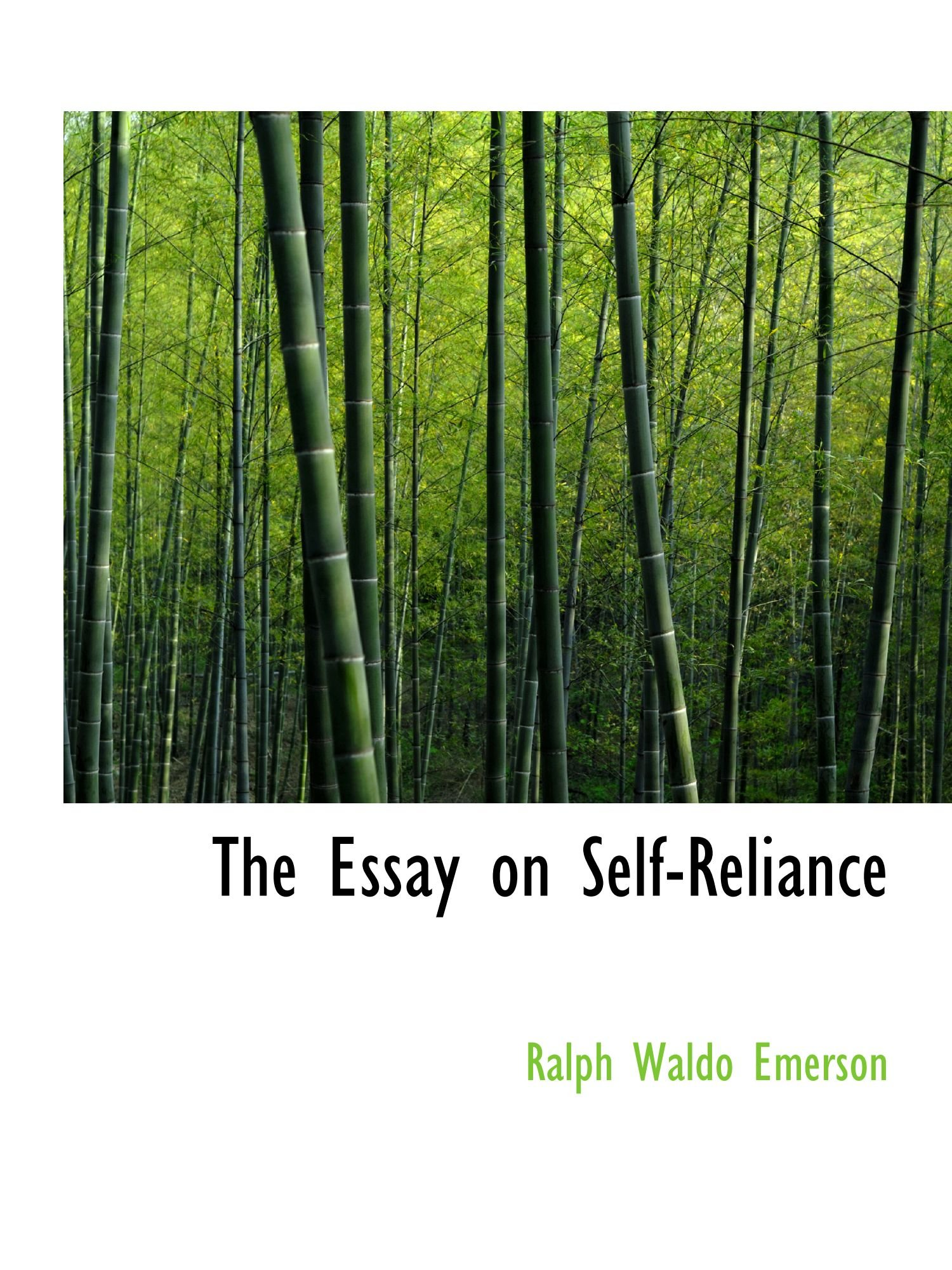 The Essay on Self-Reliance ebook