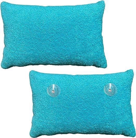 Homelevel - Cojín de rizo para bañera con funda 100% algodón Almohada de baño turquesa: Amazon.es: Hogar