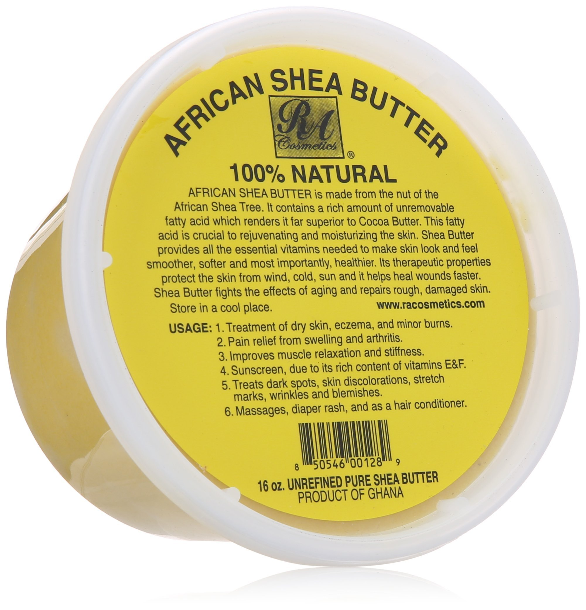 African Shea Butter 100% Natural 16oz by RA COSMETICS