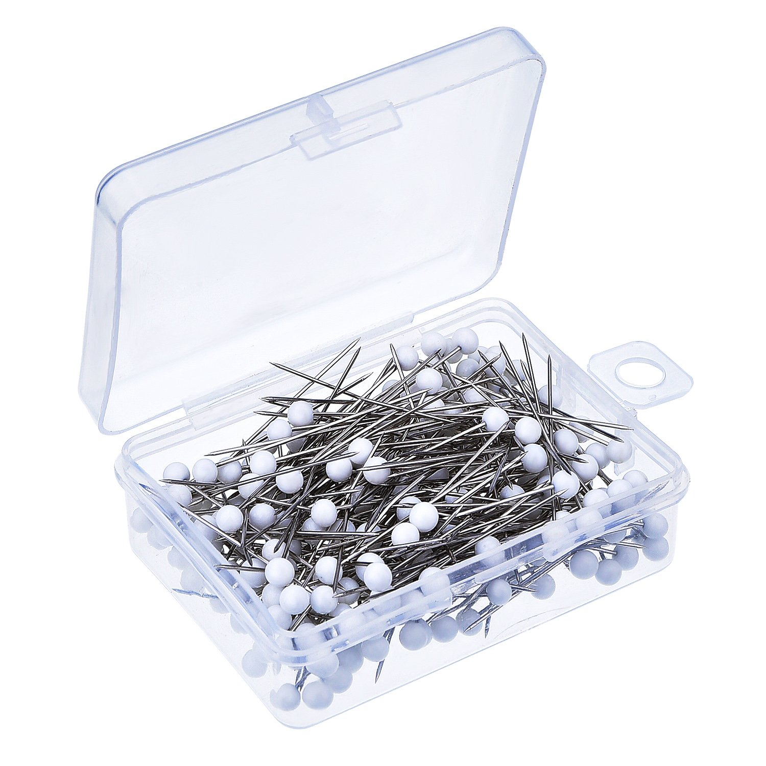 250 Pieces Glass Head Pins Boxed for Dressmaker (Multicolor) Outus 4336996551