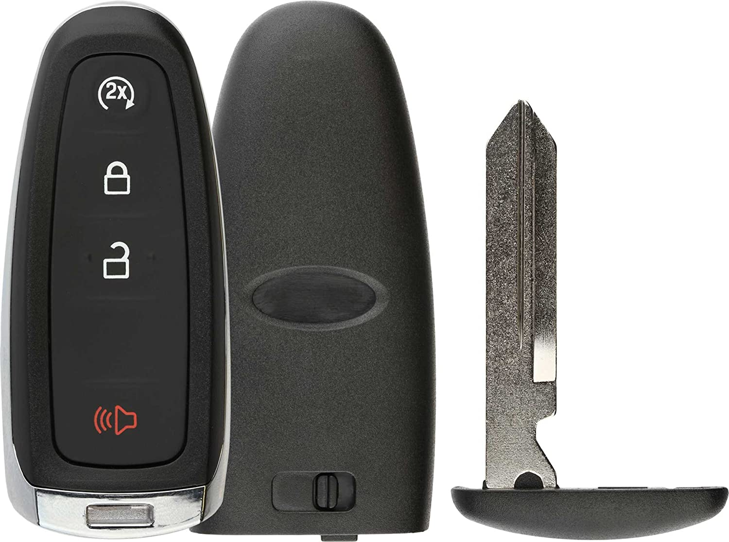 M3N5WY8609 Shell Case Key Fob Keyless Entry Remote fits Ford Edge Expedition Explorer Flex Focus Taurus Lincoln MKX MKS MKT Navigator 2011 2012 2013 2014 2015 2016 Set of 2
