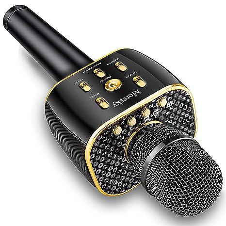 Amazon com: Moresky Karaoke Microphone Wireless Handheld Mic