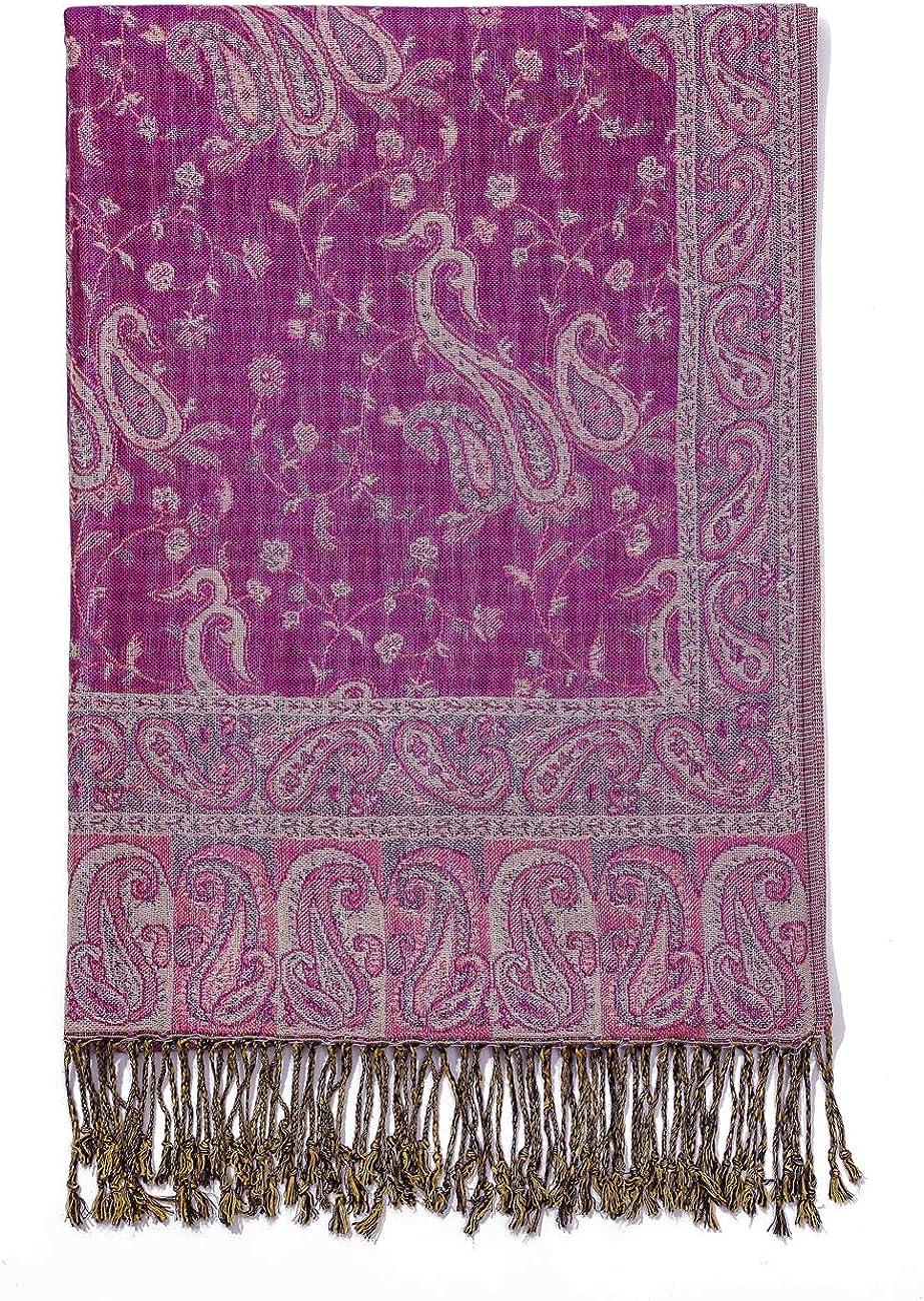 Elegante Bufanda Estampada para Mujer Lujoso Chal C/álido con Borla Suave Pashmina Estilo Paisley /Étnico Uso en Oto/ño Invierno 200 70cm