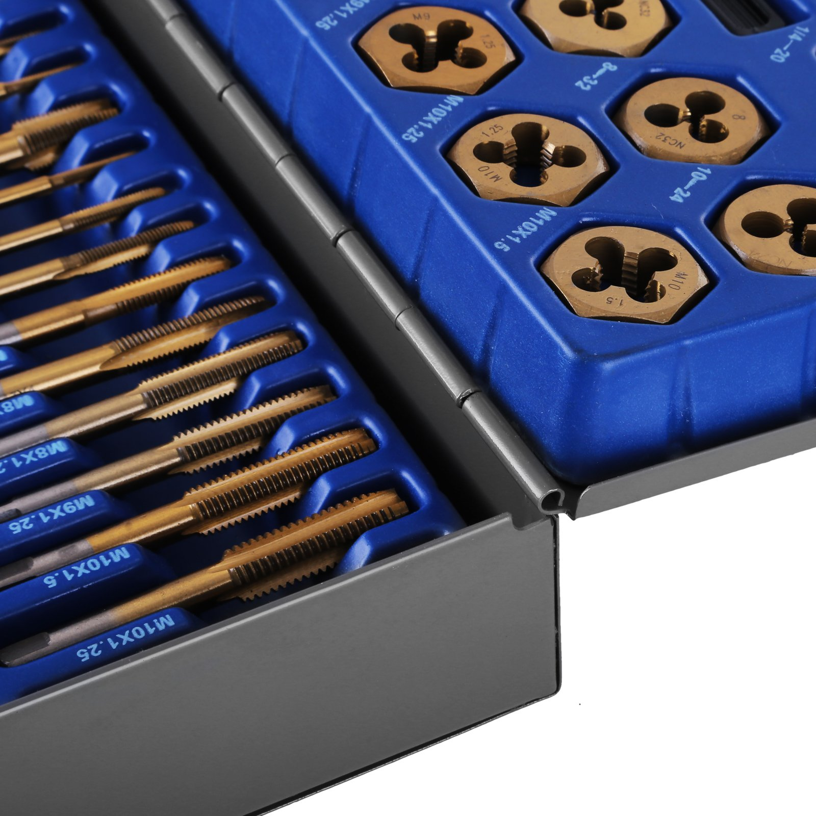 Happybuy Tap and Die Set 86PCS Combination SAE / Metric Tap and Die Kit for Cutting External and Internal Threads with Storage Case by Happybuy (Image #8)