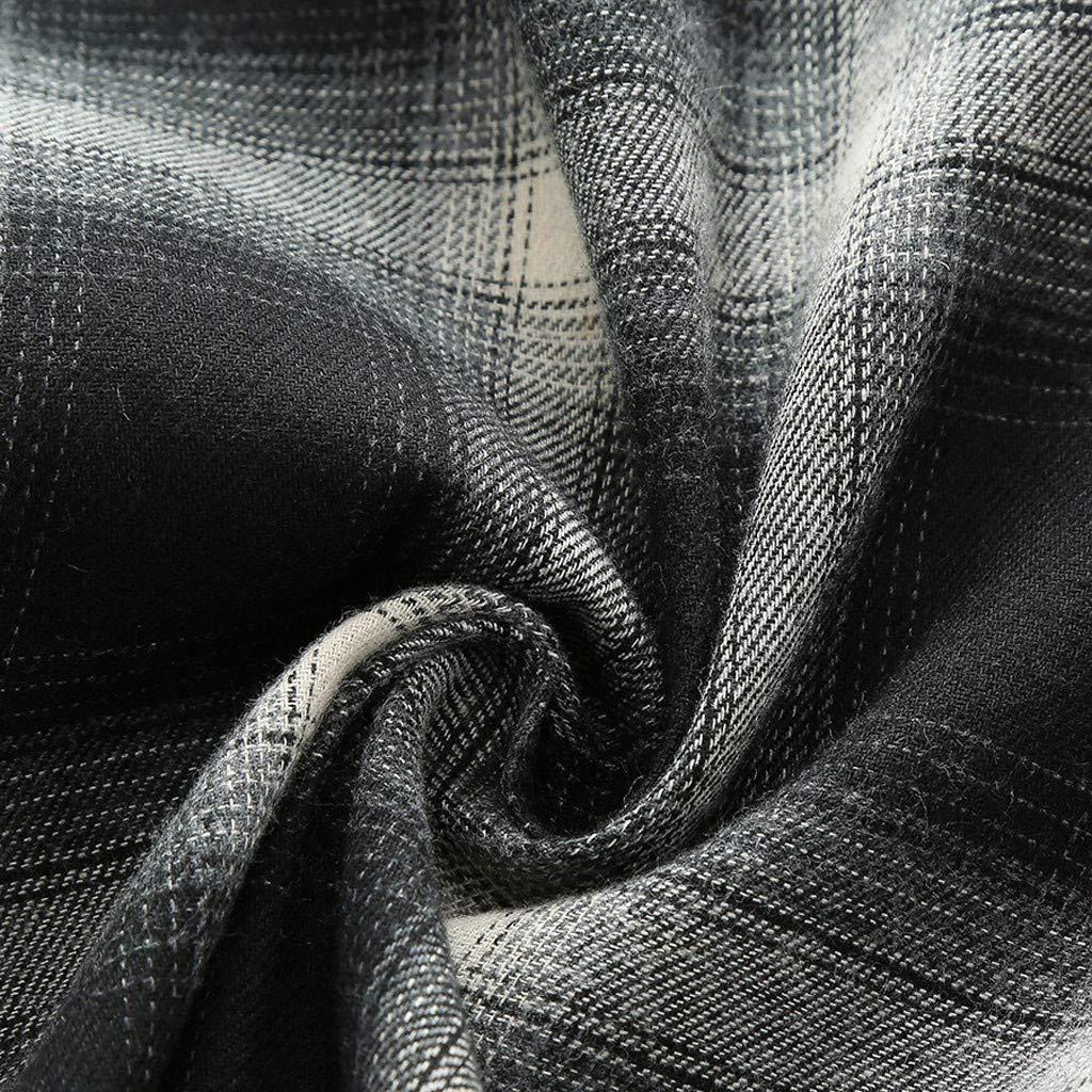 DATEWORK Mens Splicing Lattice Gradient Casual Fashion Lapel Short Sleeve Shirt
