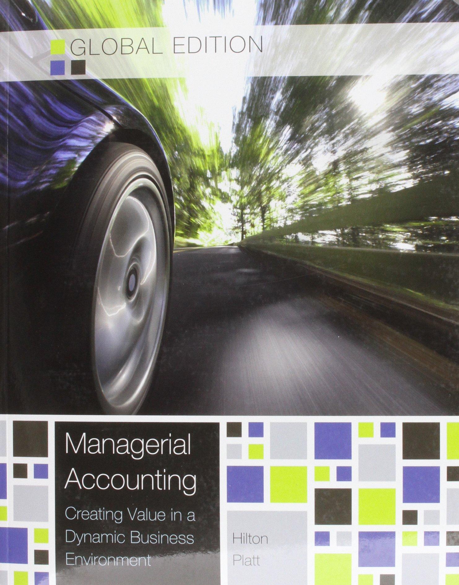 Managerial Accounting Hilton Platt Solutions Manual