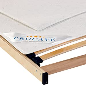 PROCAVE, Protector somier Fieltro, Cubre somier Protector, Protector colchón, Transpirable de Fieltro punzonado, Made in Germany, 90x200 cm