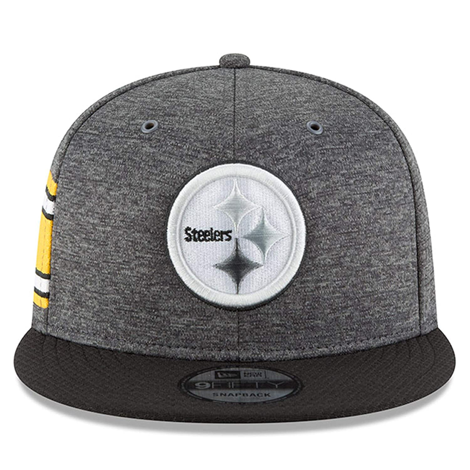 df743a447 Amazon.com   New Era Pittsburgh Steelers 2018 Sideline Onfield NFL Graphite  Charcoal Black 9Fifty Snapback Adjustable Hat