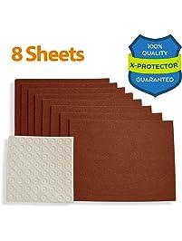 X PROTECTOR Premium Furniture Pads 8 HEAVY DUTY Felt Sheets 5 4/5u201d