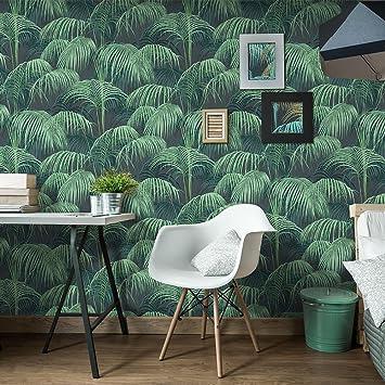 Papier Peint Tropical Jungle Wall Paper 10m X 0 5m Rouleau