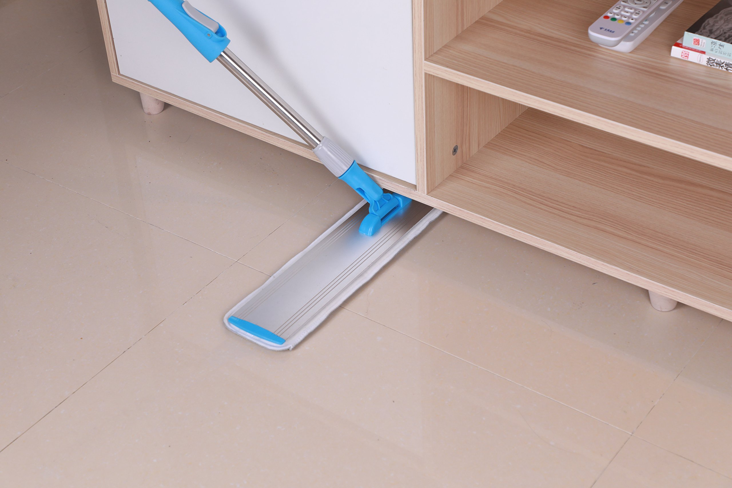 Wet Mop 24'' Microfiber Mop Heavy Duty Floor Mop Aluminum Mop Adjustable Stainless Steel Handle 4 Wet and Dry Clothes Floor Cleaning System by YOUSHANGJIA (Image #8)