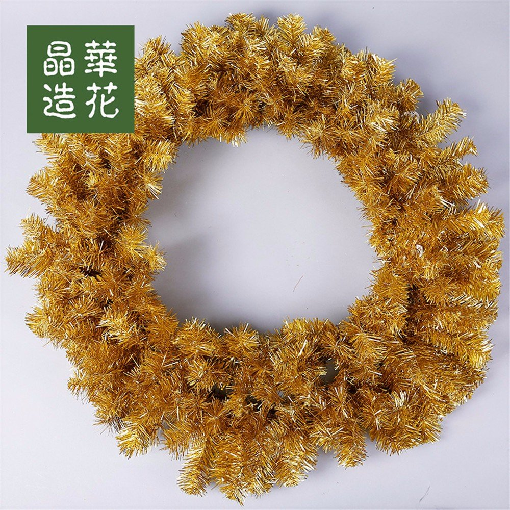 30cm-80cm green pointed Christmas wreath upscale Christmas hotel decoration,C-80CM