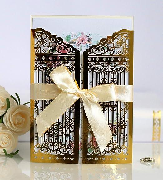 NINESH 50PCS Tarjeta de felicitación de la Puerta de Felicidad ...